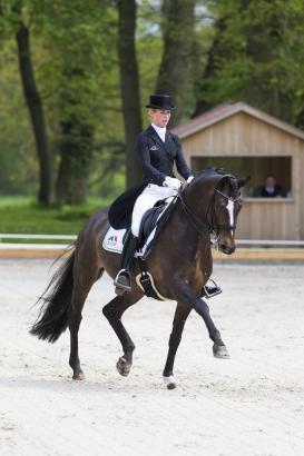 Foto: Isabell Freese und Fürst Levantino gewannen die Qualifikation zum NÜRNBERGER BURG-POKAL mit 77,098 Prozent - Fotograf: Hellmann