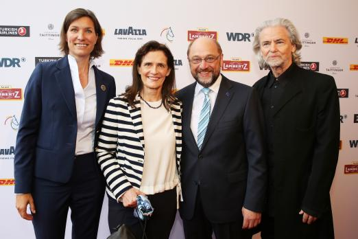 Foto: Der Präsident des EU-Parlaments Martin Schulz, kam mit seiner Frau Inge zur Media Night - Fotograf: CHIO Aachen/Andreas Steindl
