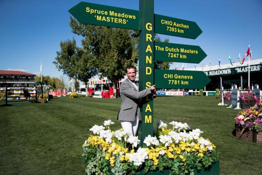 Foto: The picture enclosed shows Philipp Weishaupt, winner of the CP 'International', presented by Rolex at the CSIO Spruce Meadows 'Masters 2017 - Fotograf: Ashley Neuhof).
