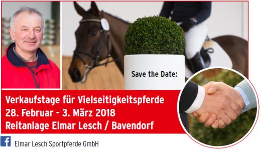 Foto: Verkaufstage für Vielseitigkeitspferde 28. Februar - 3. März 2018 Reitanlage Elmar Lesch / Bavendorf - Fotograf: Thomas Ix