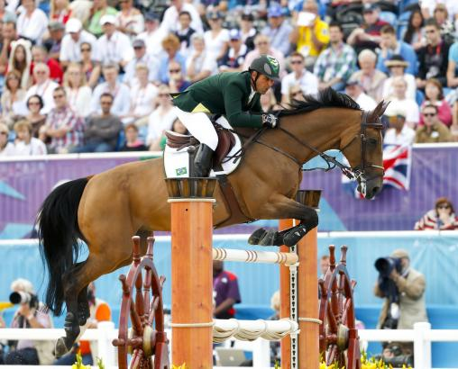 Foto: Doda bei den Olympischen Spielen in London 2012 mit seinem Wallach Rahmannshof´s Bogeno - Fotograf: Julia Rau