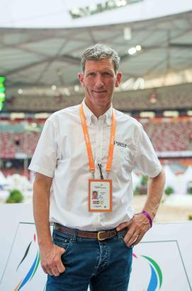 Foto: Ludger Beerbaum im Olympic Stadium in Beijing/China - Fotograf: Arnd Bronkhorst