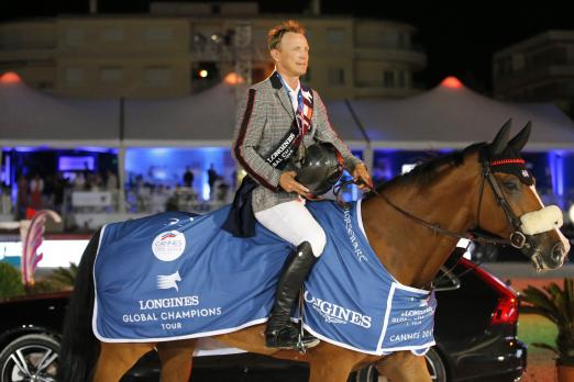 Foto: Peder Fredricson gewann mit Hansson WL den Longines Global Champions Tour Grand Prix of Cannes 2018 - Fotograf: Stefano Grasso/LGCT