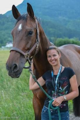 Foto: Iris Murray, die den Teiritzhof in Korneuburg übernehmen wird - Fotograf: M.E.S. Horses
