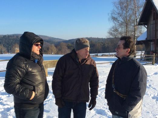Foto: Streckenbesichtigung der Verantwortlichen - Fotograf: Internationale Marbacher Vielseitigkeit